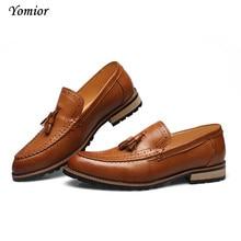 Yomior Genuine Leather Dress Shoes High Quality Man Fashion Spring Autumn Formal Shoes Retro Elegant Shoe Brogue Shoes