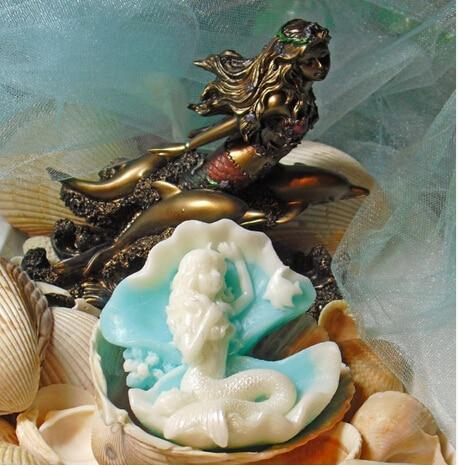 Γοργόνα σε Clam Shell Χειροποίητο σαπούνι - Κουζίνα, τραπεζαρία και μπαρ - Φωτογραφία 2
