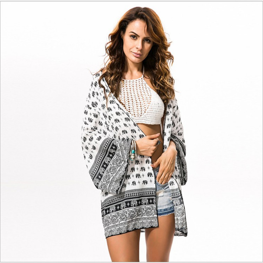 Summer NEW Womens Beach Cover Up Dresses Crochet Bikini Long Sleeve Swimwear Bathing Suit Cover Ups Beach Tunic Top ...