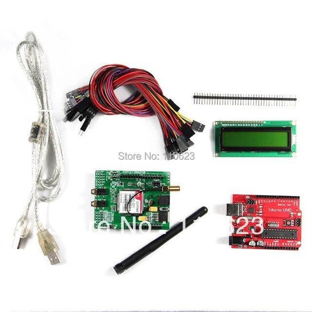 Getech SIMCOM SIM900 квад-gsm 20-полосный GPRS по развитию комплекты, Оон R3 совета и LCD16x2 1602