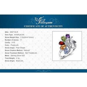 Image 5 - Jewelrypalac天然アメジストシトリンガーネットペリドットトパーズリング 925 スターリングシルバーリング女性用シルバー 925 宝石ジュエリー