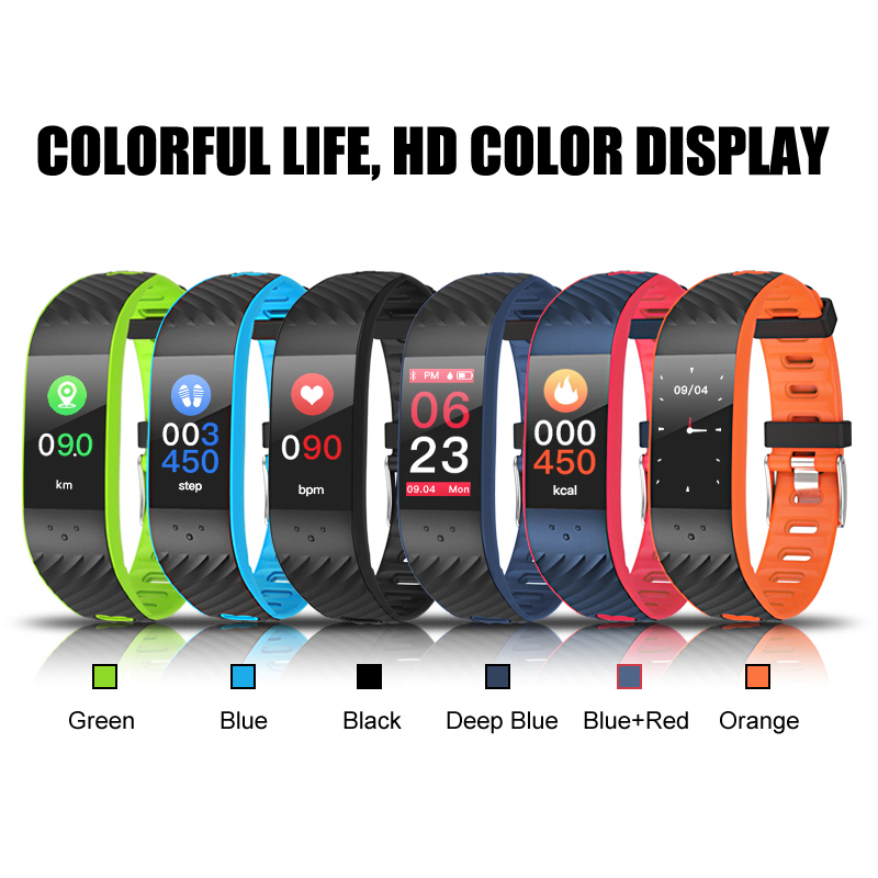 0.96'' OLED Smart watch Blood pressure/Heart rate Monitor fitness bracelet Android IOS smart band wristband Bluetooth smartwatch
