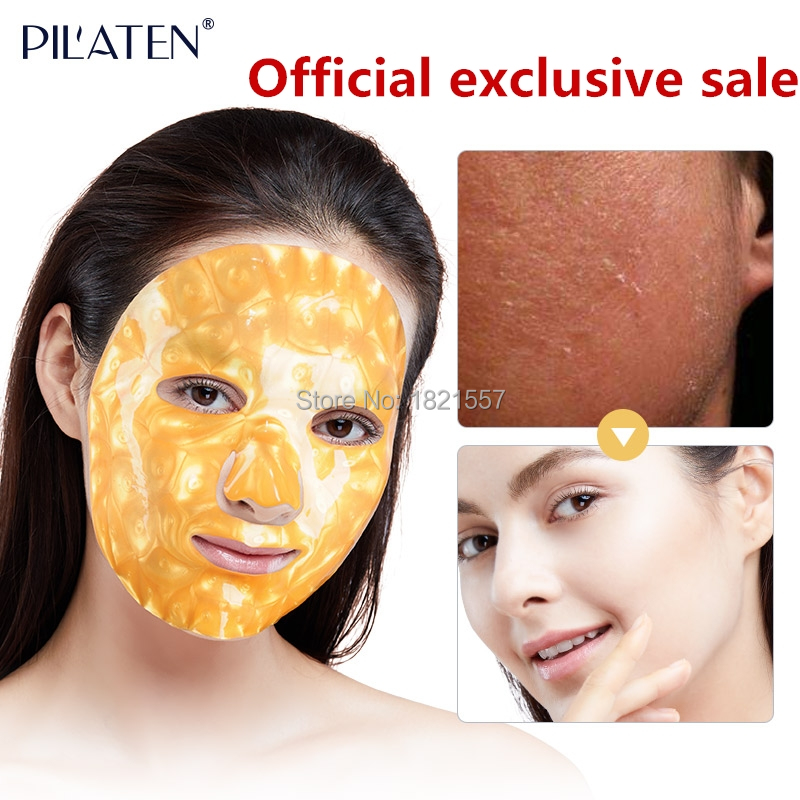 PILATEN GOLD Collagen Face Mask,whitening&anti-oxidize skin,Hydrating,Anti Aging,reduce wrinkle,Firming Up Skin,2PCS