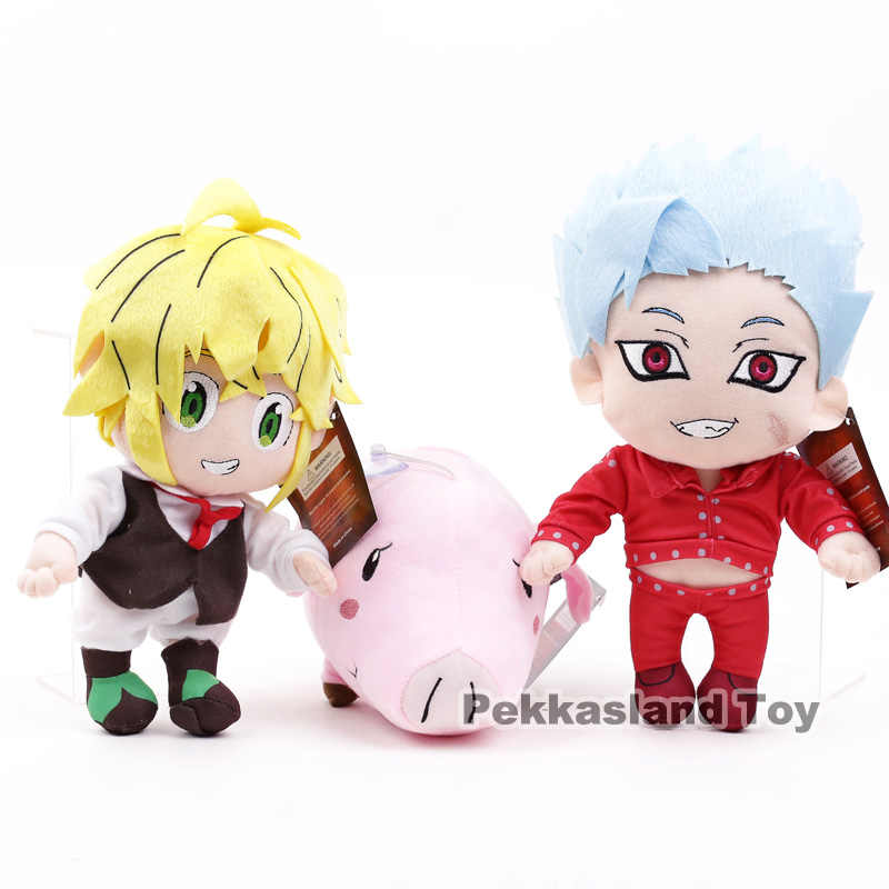 Seven Deadly Sins Meliodas บ้าน Hawk ตุ๊กตาตุ๊กตาของเล่นตุ๊กตาตุ๊กตา
