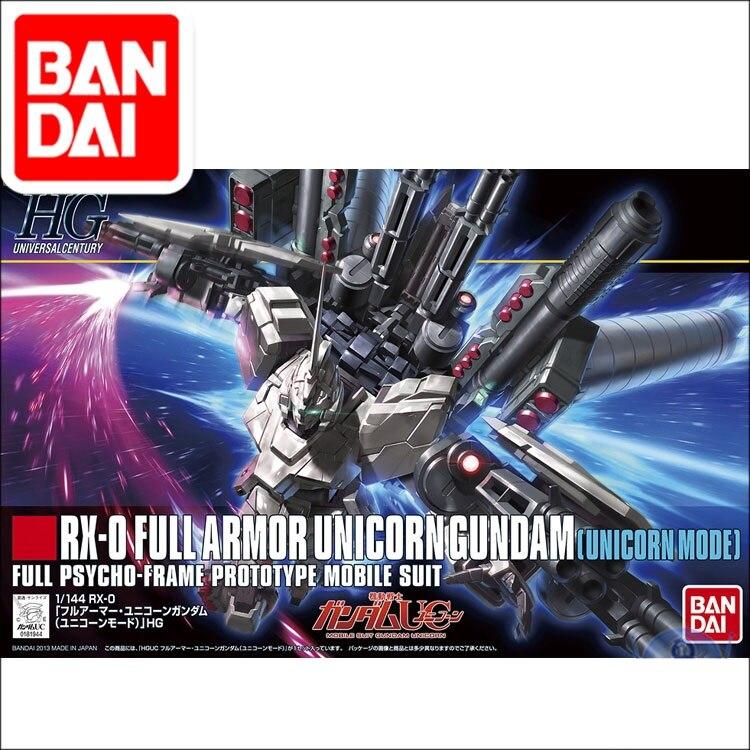 Original Gundam Model RX-0 FULL Armor UNICORN Mode GUNDAM Freedom Destroy Unchained Mobile Suit Kids Toys With Holder