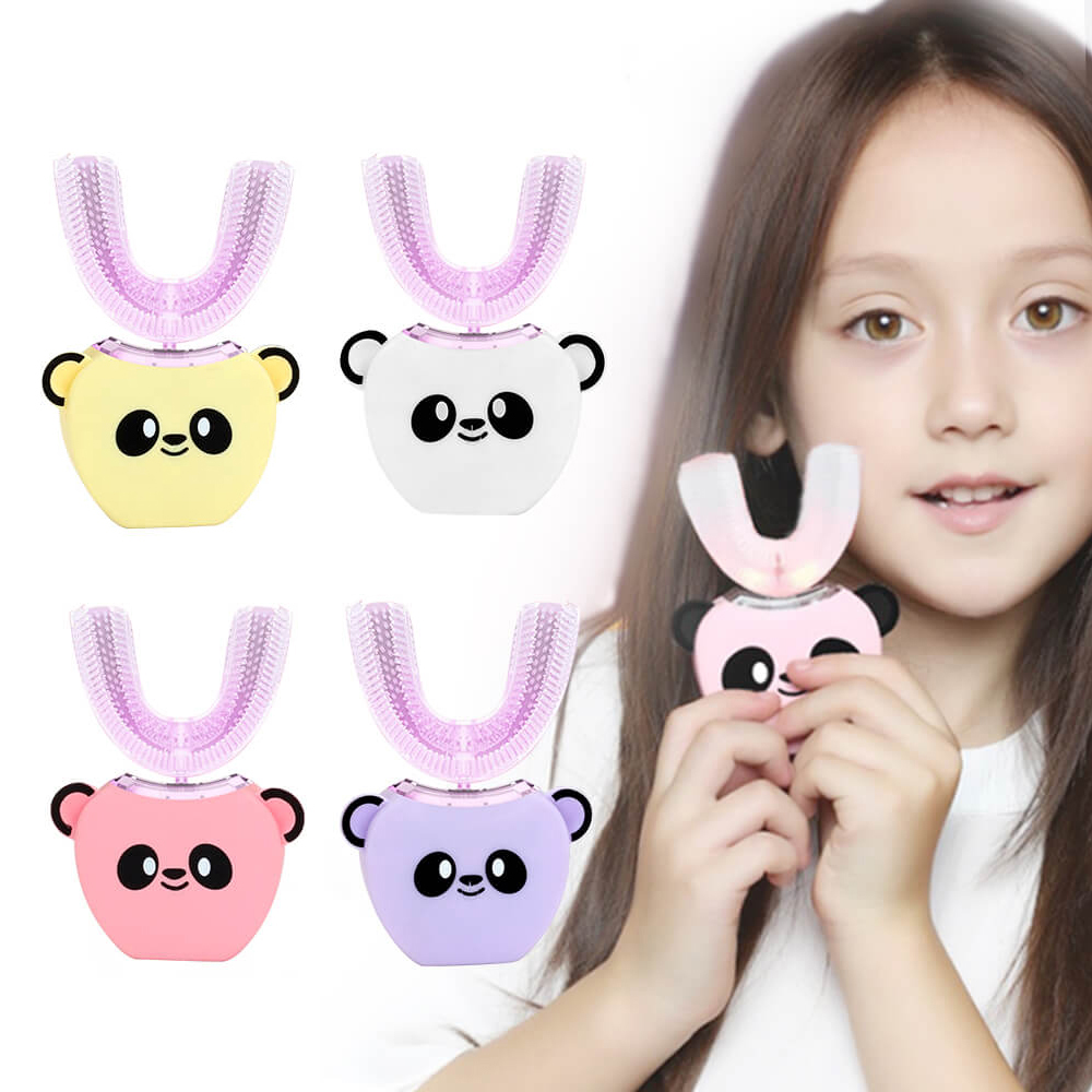 Inteligente 360 graus automático sonic escova de dentes elétrica para crianças adulto u tipo 4 modos escova de dentes carregamento usb clareamento dos dentes