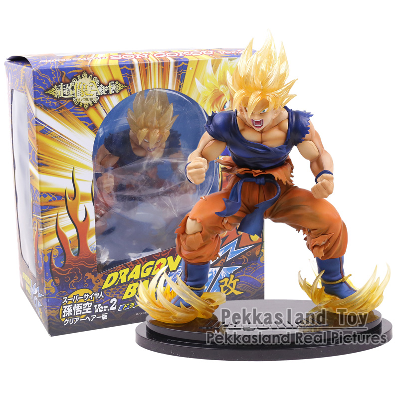 Dragon Ball Kai Super Saiyan Son Goku Gokou Ver. 2 Statue PVC Figure Collectible Model Toy 28CM 110v 220v non stick commercial electric sweet donut machine 6pcs donut fryer waffle maker commercial cake machine free shipping