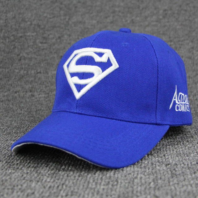 2018 New Letter Superman Cap Casual Outdoor Baseball Caps For Men Hats Women Snapback Caps For Adult Sun Hat Gorras wholesale