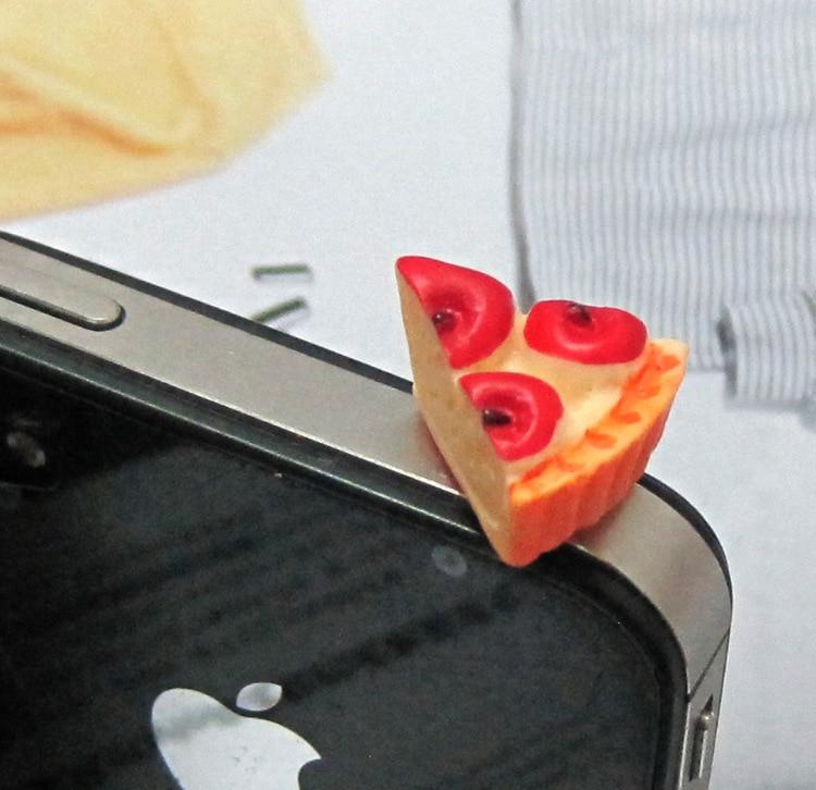 Kawaii имитация гамбургер/cups/Торт/чипсы телефон Защита от пыли сотовый телефон Интимные аксессуары для телефона 3.5 мм наушники разъем