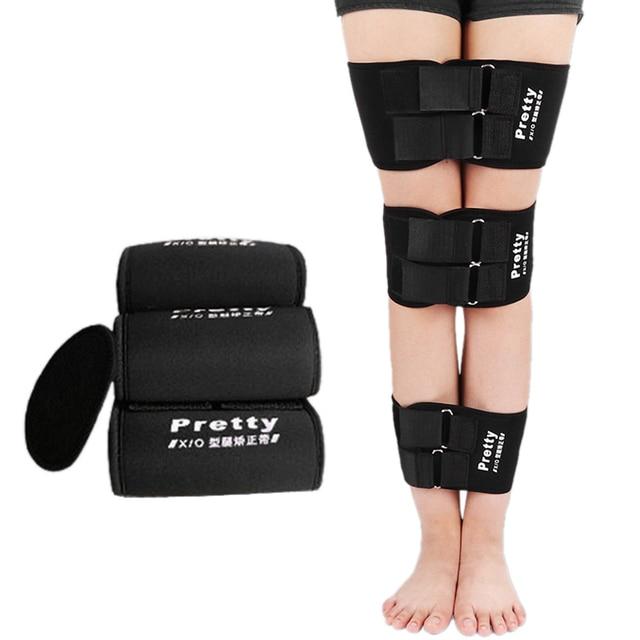 3 unids/set efectivo O/X tipo pierna doblada piernas rodilla Valgum alisamiento corrección Correa postura Corrector belleza pierna banda