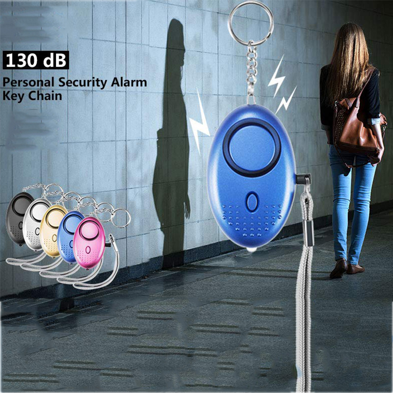 130 Db Self Defense Alarm Keychain Emergency Personal Alarm For Women Kids Girls Self Defense Electronic Device Bag Decoration
