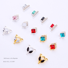 100pcs Nail Charms Studs Nails 3d Jewelry Fancy Crystal Drop / Gold/Silver diamond art Decoration luxury nails rhinestone