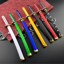 Unique Anime Zoro Buckle Katana Sabre Keychain Key Ring For Anime Lover