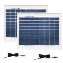 Portable Solar Panel Kit 12v 10W Polycrystalline 2 Pcs/Lot PV Cable Battery Charger LED Boat Camp Light Phone