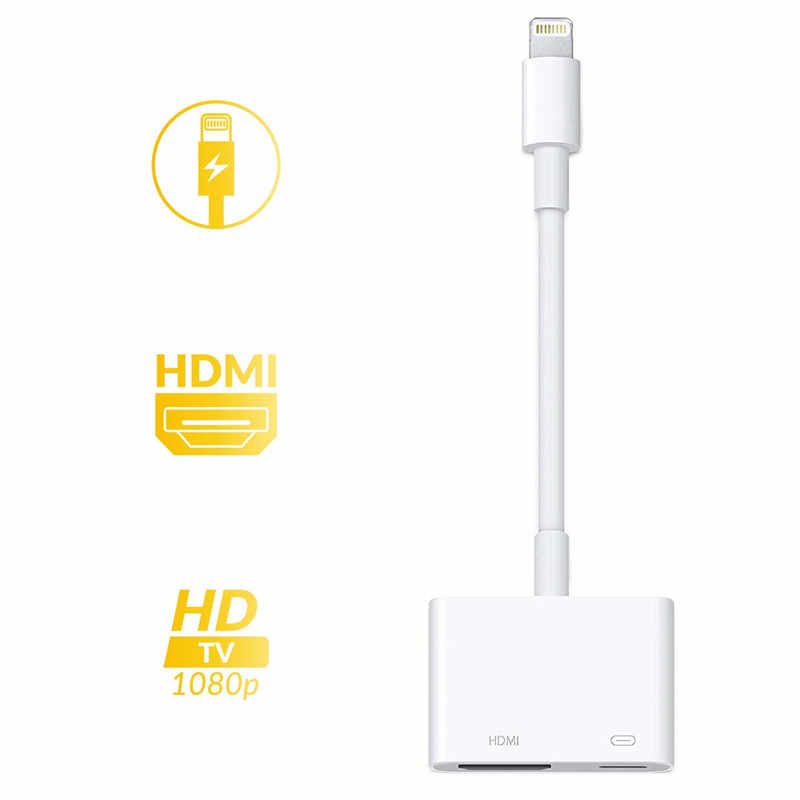 2019 o mais recente 1080 p av adaptador hdmi conversor digital av adaptador 8pin para hdmi cabo para apple iphone x xs xr max 8 7 ipad mini