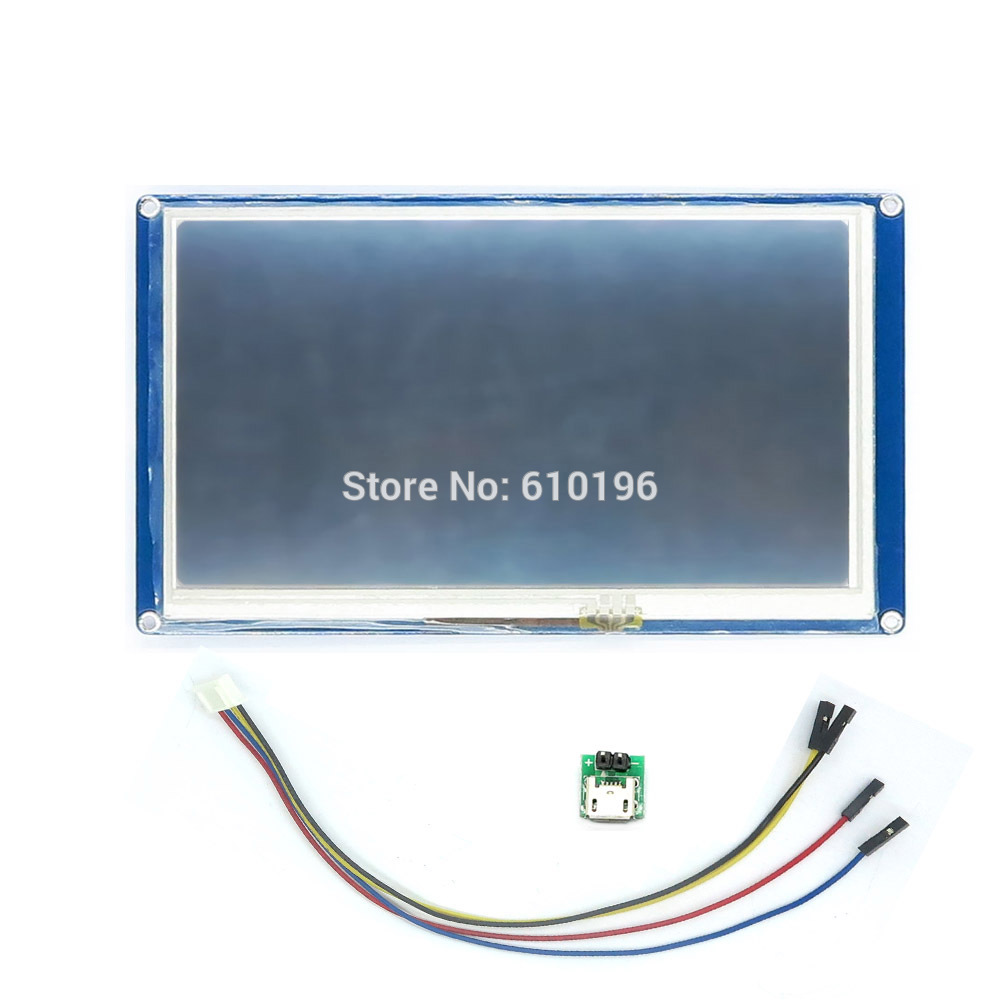 English Version Nextion 7.0 HMI Intelligent LCD Tough Screen Module Display for Arduino LCD TFT Raspberry Pi ESP8266English Version Nextion 7.0 HMI Intelligent LCD Tough Screen Module Display for Arduino LCD TFT Raspberry Pi ESP8266