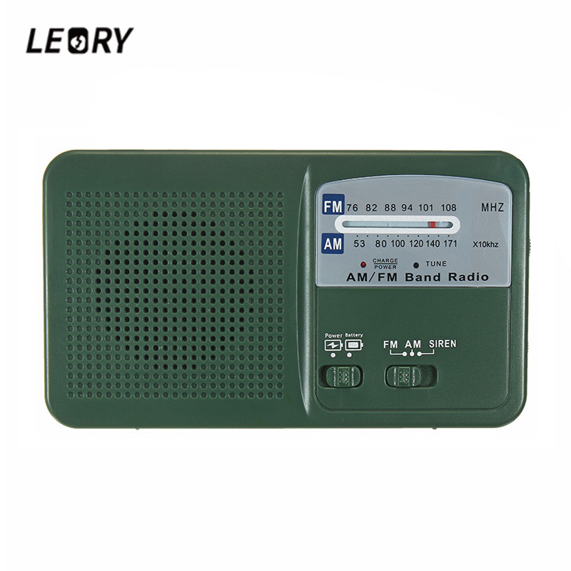 LEORY Protable Solar Power Radio Hand Crank Dynamo Self Powered Phone Charger LED Flashlight AM/FM/WB Radio Emergency Survival protable am fm radio hand crank generator solar power radio with flashlight 2000mah phone charger