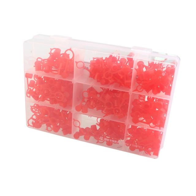 300pcs M6 M8 M10 RED Polyethylene Plastic Dust Cover Cap Cover Assortment Kits for Oil Grease Gun Zerk Fitting