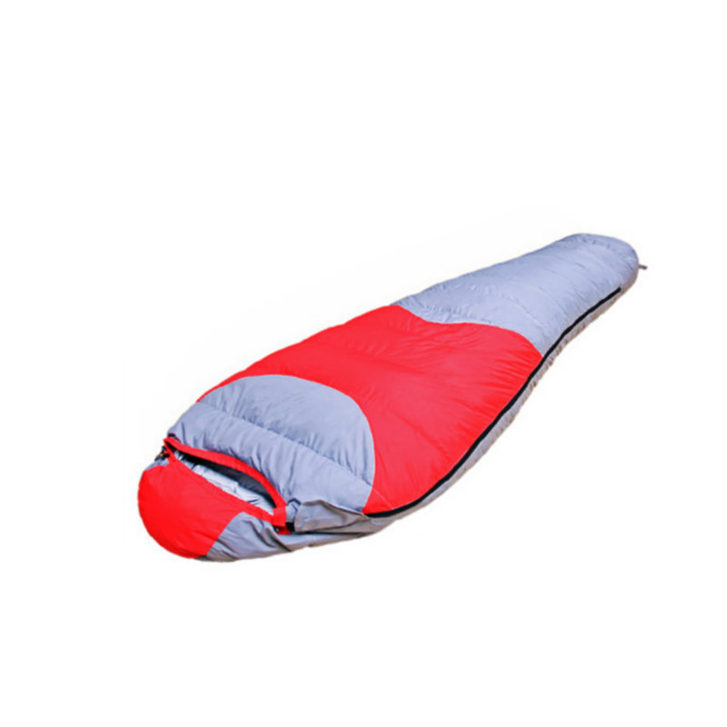 High Quality Thermal Duck Down Sleeping Bag Winter Mummy Sleeping Bag for Outdoor Camping Red Blue