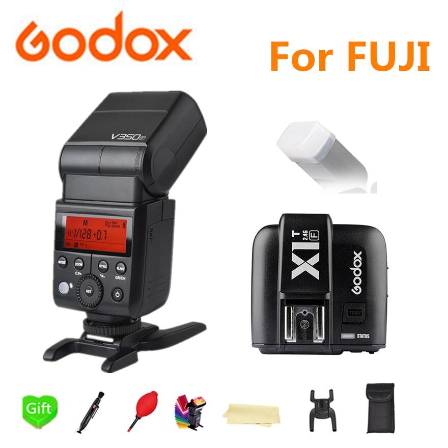 Godox V350F Flash Speedlite Sans Fil TTL 1/8000 s HSS Caméra Clignote Flash avec Li-ion Batterie pour Fujifilm X-T20 x-T1 X-T10