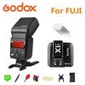 Godox V350F Flashes Speedlite Sem Fio 2.4G X Sistema TTL HSS Gatilho Flash + X1T-F Bateria Li-ion Para Fuji Fujifilm câmeras