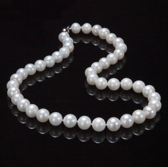 new AAA+ 9-10mm genuine white fresh water cultured pearl necklace 17 Factory Wholesale price Women Gift word Jewelrynew AAA+ 9-10mm genuine white fresh water cultured pearl necklace 17 Factory Wholesale price Women Gift word Jewelry