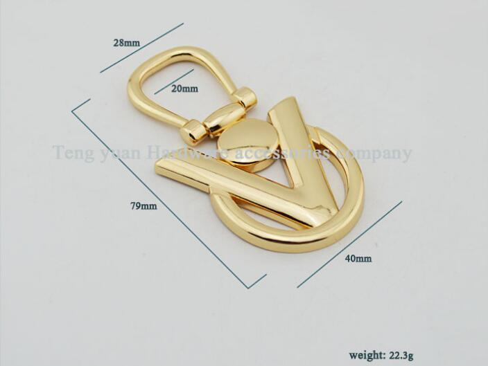 (10 PCS/lot) Letters on both sides of the arm in arm straps links to hang bag hook bags leather metal accessories new arrival fancy border punch fish design scrapbooking embossing punch for diy handmade crafts 8726 7