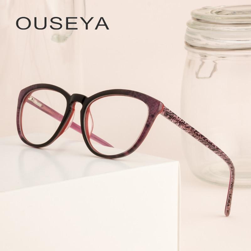 Acetat Brillen Rahmen Frauen Mode Transparent Retro Klar Vintage Trendy Brillen Rahmen # F951