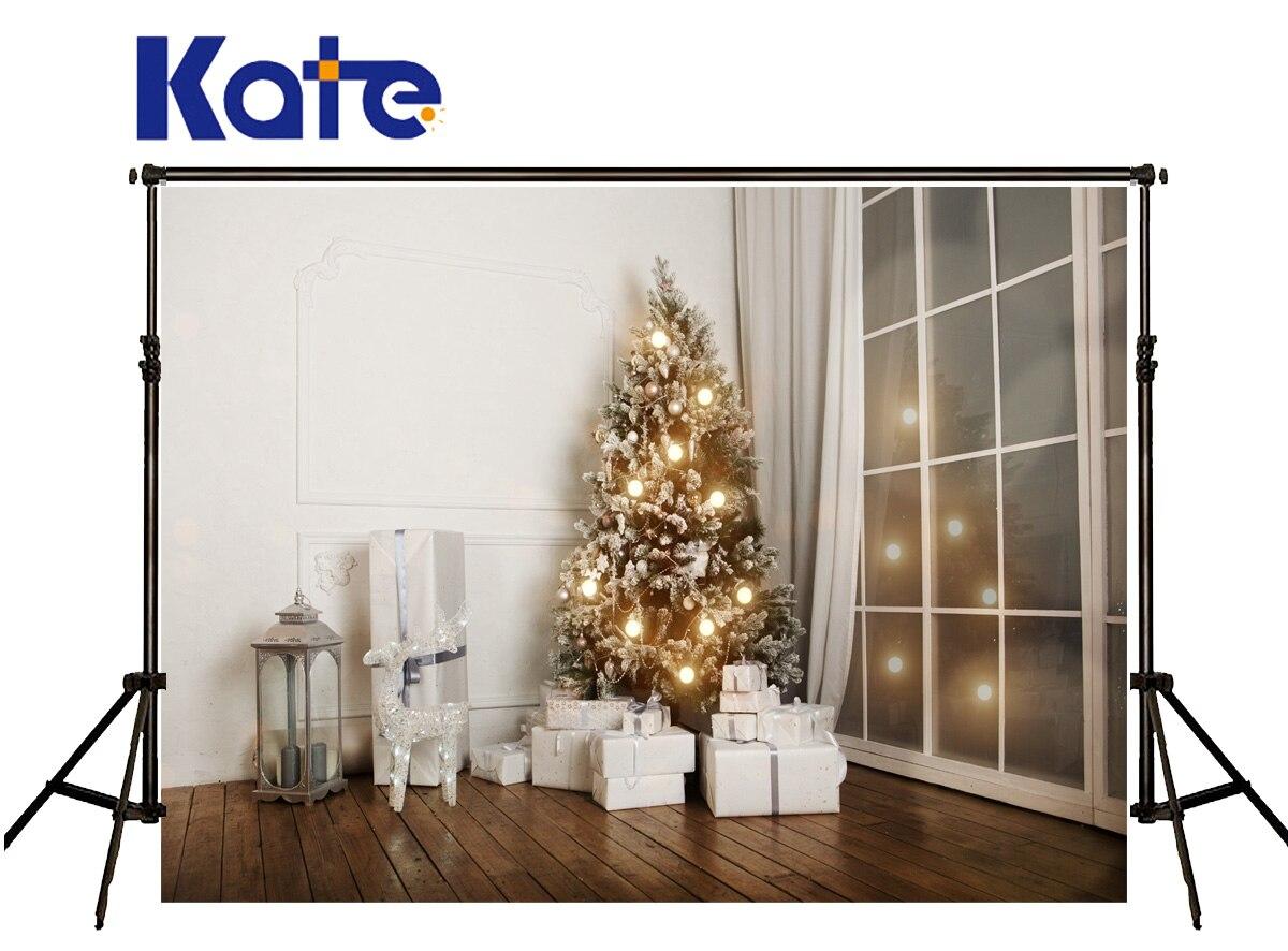 Kate noël toile de fond photographie blanc cadeau boîte photographie fond Windows lampe Spot bois décors photographie Studio