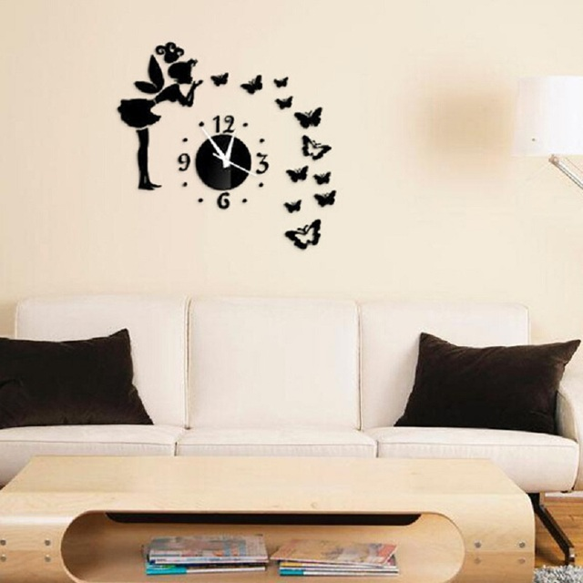 Wall Sticker Clock Saat Wall Clock Stickers Reloj Duvar Saati