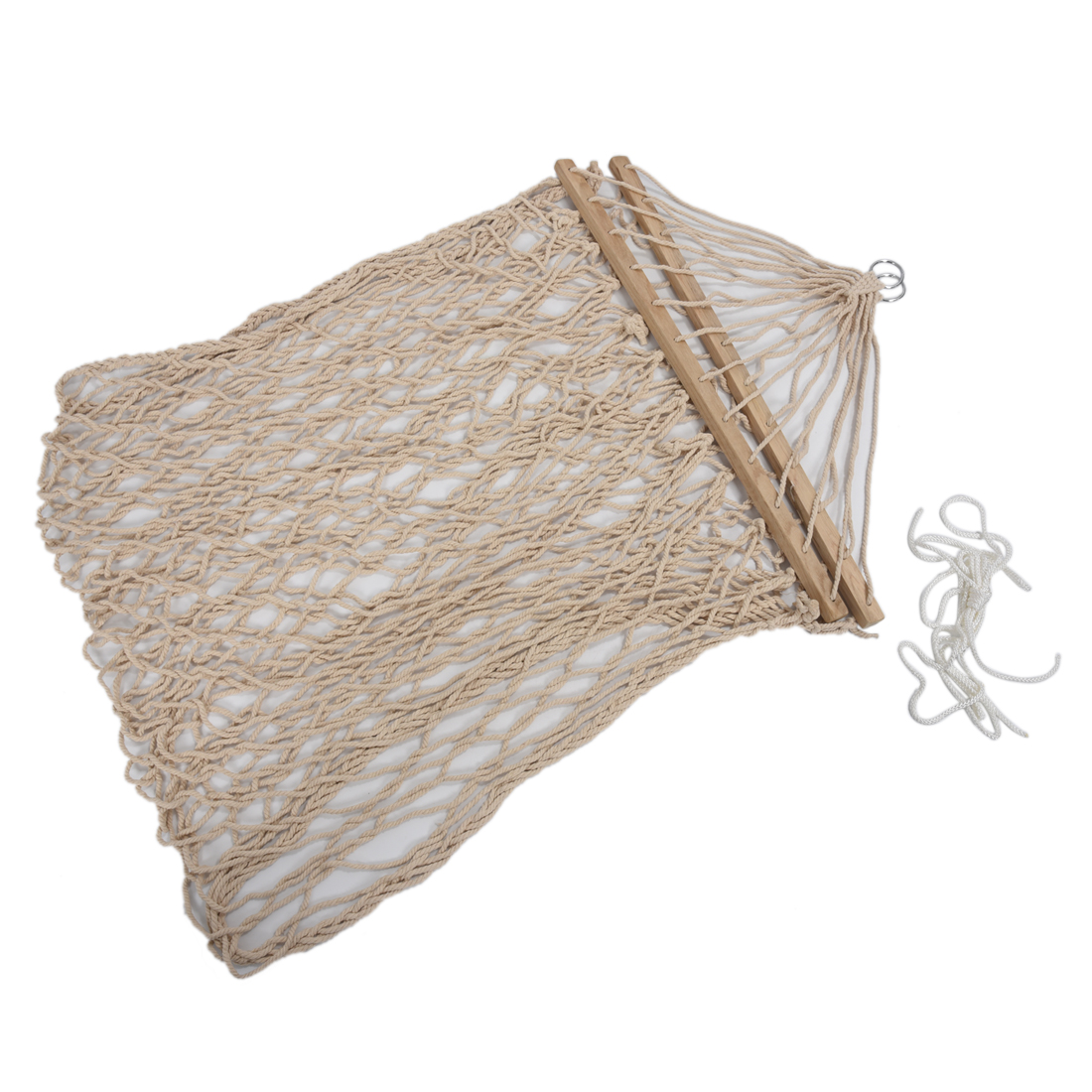 Image 3 - Hot Sale White Cotton Rope Swing Hammock Hanging on the Porch or on a Beach-in Hammocks from Furniture