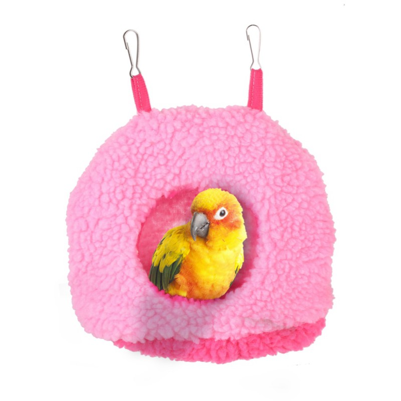 Home & Garden Collection Here Pet Bird Soft Plush Parrot Hammock Warm Hanging Bed Cage Pad Mat Cave Hut Tent Toys House Bird Parrot Hammock Bed Toys Bird Cages & Nests