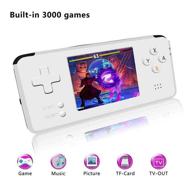 MINI portable retro handheld game 3000 Games children boy nostalgic players video game console for Child Nostalgic Player