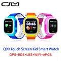 Q90 Posição SOS Localização GPS Smartwatch Tela Sensível Ao Toque Do Bebê À Prova D' Água localizador criança monitor anti perdido smart watch gps pk q50 Q80
