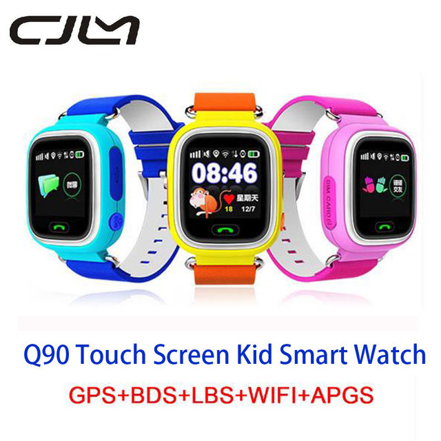 Q90 Smartwatch GPS Baby Touch Screen Waterproof Position SOS Location Finder Kid Anti Lost Monitor Smart watch GPS PK Q50 Q80