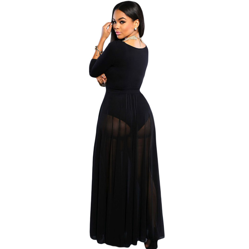 b103ee66da1e FGirl Lace Skirt Vintage Women Skirts American Apparel Black Sheer Slit  Luxe Maxi Skirt FG10471-in Skirts from Women's Clothing on Aliexpress.com |  Alibaba ...