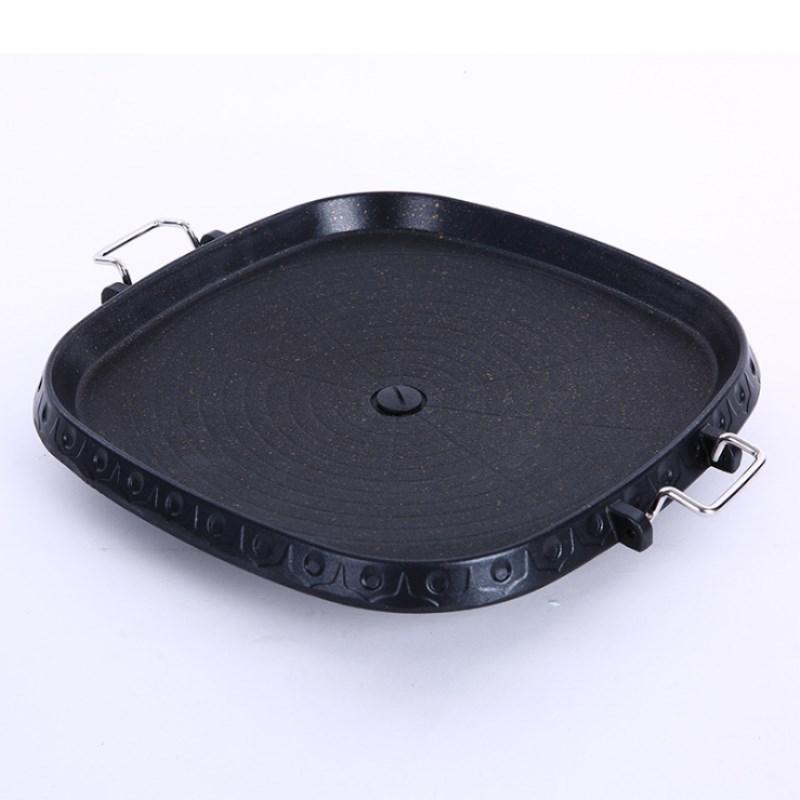 Корейская квадратная сковорода для барбекю, сковорода для стейка, барбекю Maifan, каменный поднос для выпечки, домашний портативный поднос для барбекю Сковороды      АлиЭкспресс