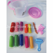 New 10colors set Colorful Silly Putty DIY Safe and Soft Polymer Modeling Clay Playdough Tools Soft