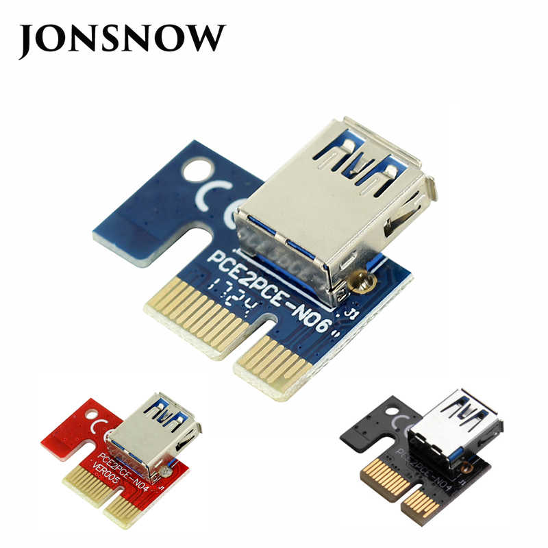 JONSNOW PCIE 1X to16X PCI-E 1X to USB to Video Graphics Card Expand the line Mining PCI-E Extension Line Small Card Board