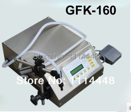 GFK-160 Digital Control liquid filling machine (5-3500ml) for mineral water juice beverage milk zonesun pump for liquid filling machine gfk 160