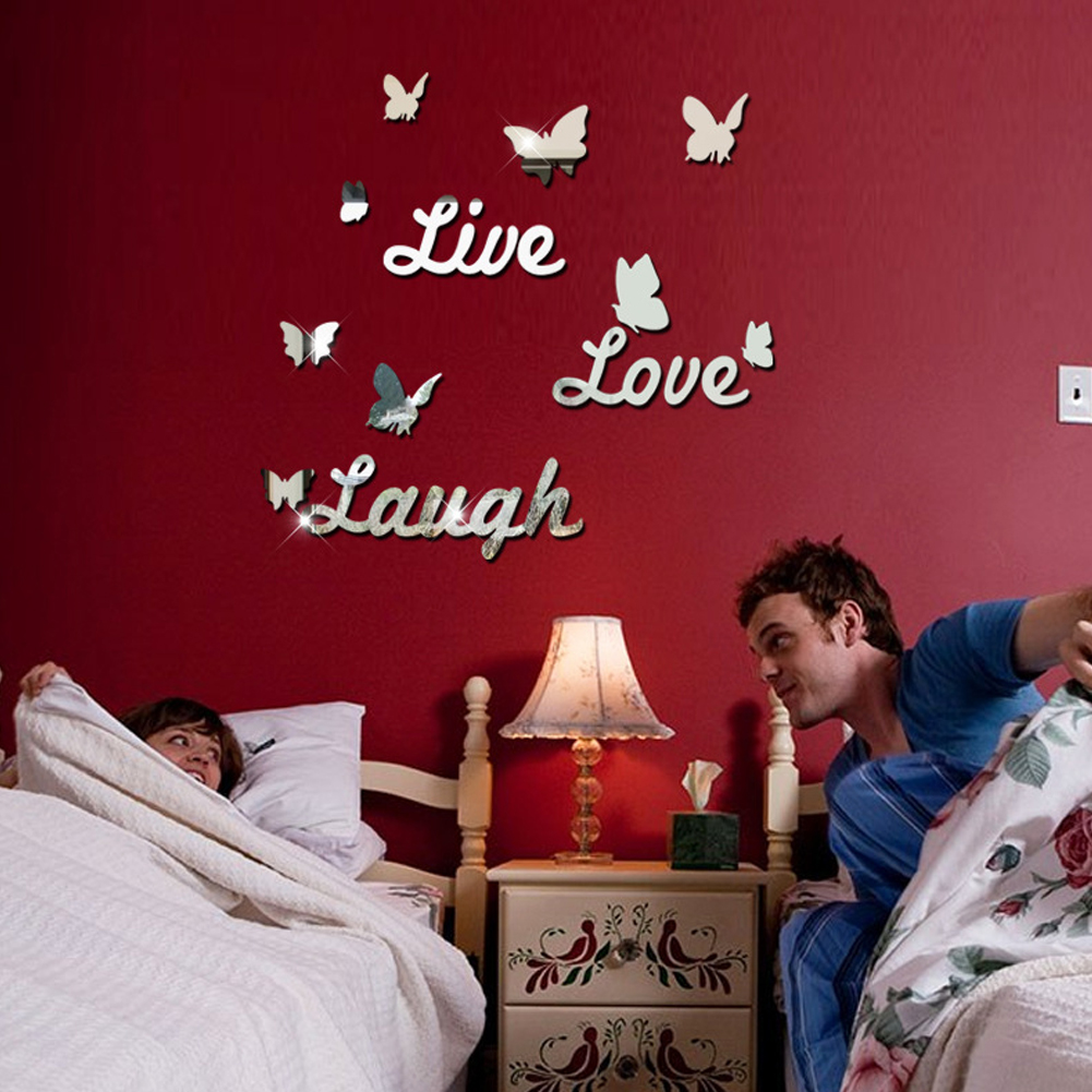 popular live laugh love mirror buy cheap live laugh love mirror warm style tv setting wall room sitting room sofa decorate wall stickers live laugh love pattern
