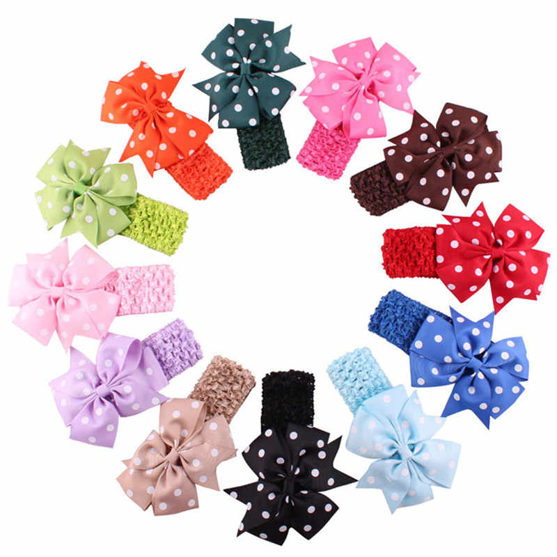 2016 Hot product Cute Babys Headbands Girl's Headband  Flower Head Wear Hair Bow accessoire cheveux fille  free shipping#E10