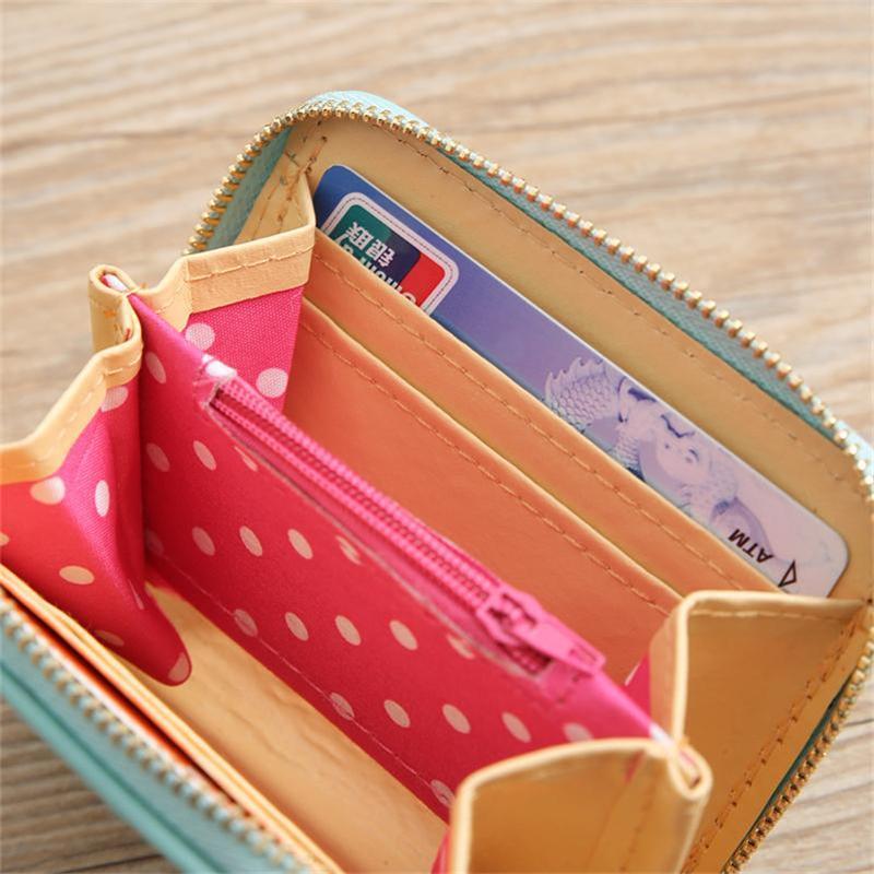 Cat Riding Llama Womens RFID Blocking Zip Around Wallet Genuine Leather Clutch Long Card Holder Organizer Wallets Large Travel Purse