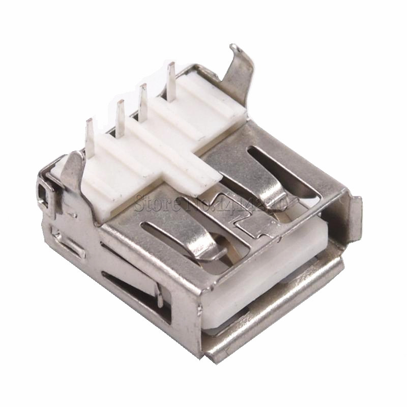 2018 Hot Sale 10Pcs USB Type A Standard Port Female Solder Jacks Connector PCB Socket USB-A type 100pcs right angle 4 pin usb type a standard port female plug jacks connector pcb socket usb a type