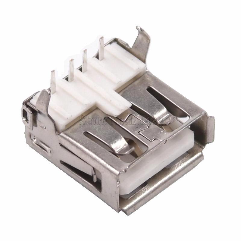 2020 Vendita calda 10Pcs USB Tipo A Martinetti Porta Standard Femmina A Saldare tipo di Connettore PCB Socket USB-A