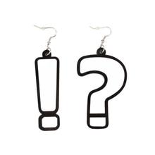 European Fashion Hip Hop Jewelry White Acrylic Personality Asymmetric Earrings Women
