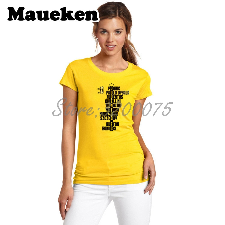 8c7a80a80 Women 2018 19 Squad Crossword Cristiano Ronaldo CR7 Buffon Paulo Dybala  Bonucci Pjanic Mandzukic Lady Girl T Shirt-in T-Shirts from Women s  Clothing on ...
