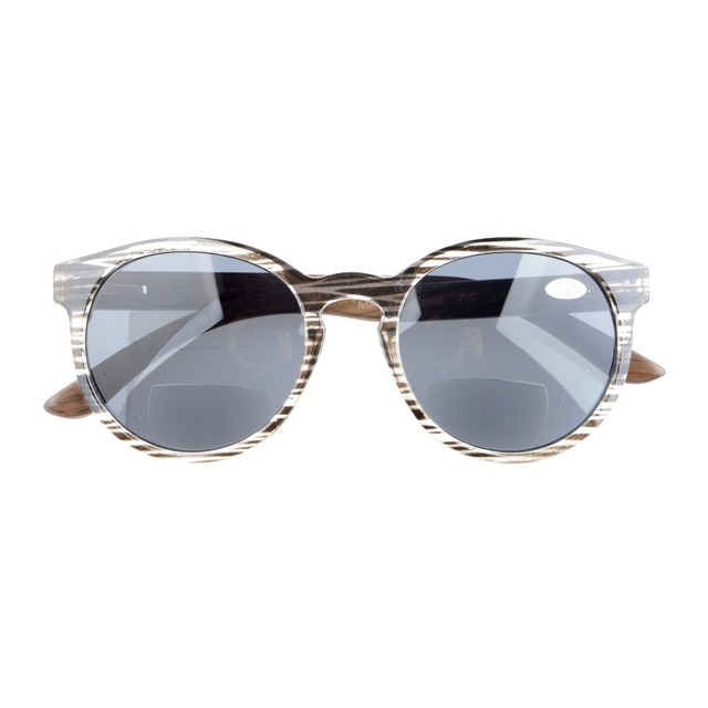 4d77aa90f7 S009 Eyekepper Quality Spring Hinges Wood Temples Oval Round Bifocal  Sunglasses Women +1.00 1.25 1.50 1.75 2.00 2.25 2.50 3.00
