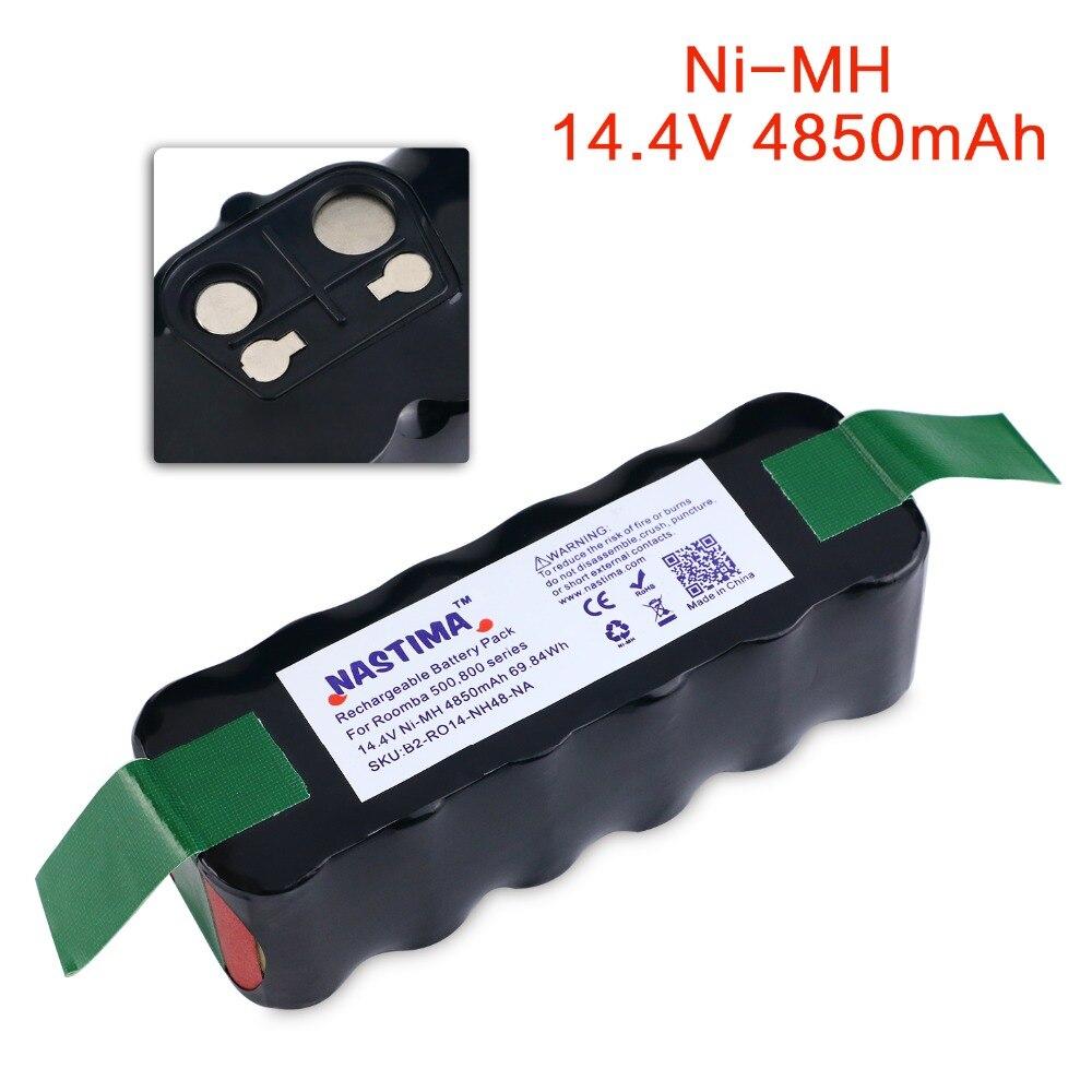 NASTIMA 14.4 v 4850 mAh Bateria Para Roomba 500 600 700 800 série Aspirador Robôs 600 620 650 700 770 780 800 [UL & CE listados]