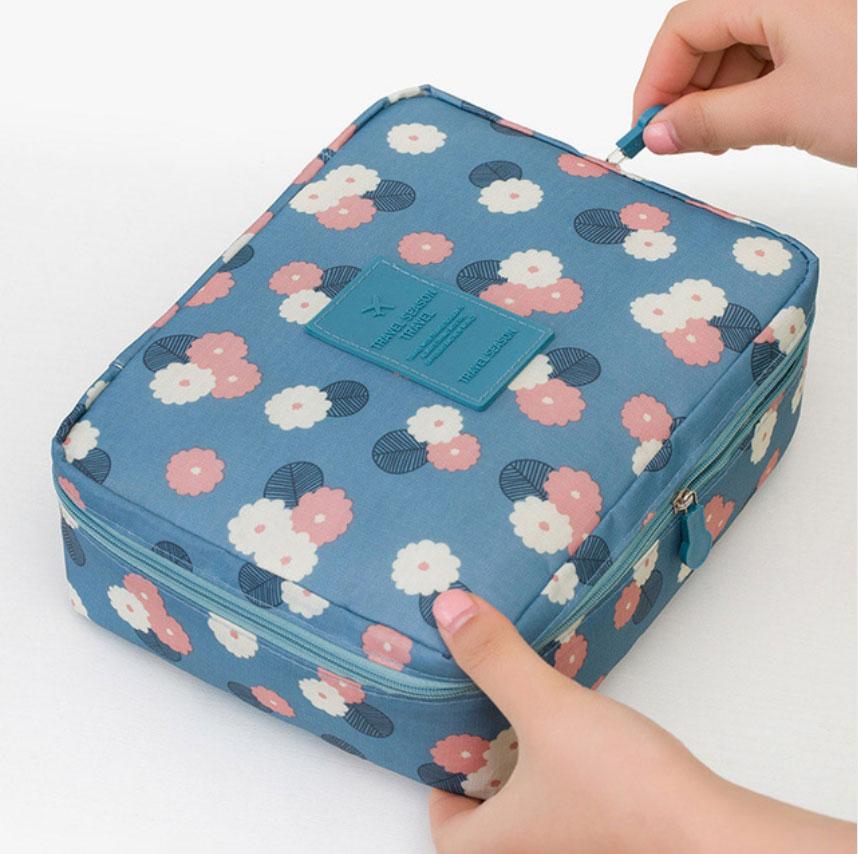 Women Travel Cosmetic Bag Organizer Makeup Case Pouch Toiletry Make Up Bag women travel cosmetic polka dots makeup double layer case pouch organizer bag